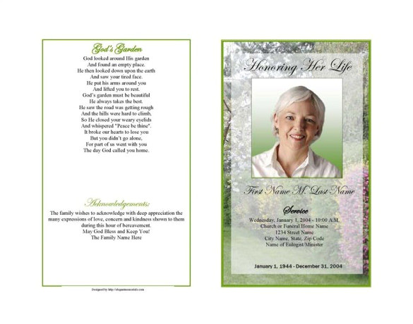 Death Program Templates Obituary Program Template 19 Free Word Excel Pdf Psd