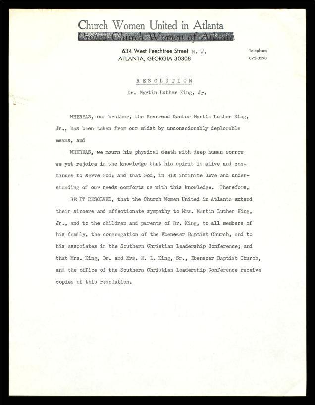 baptist church resolution for a church member