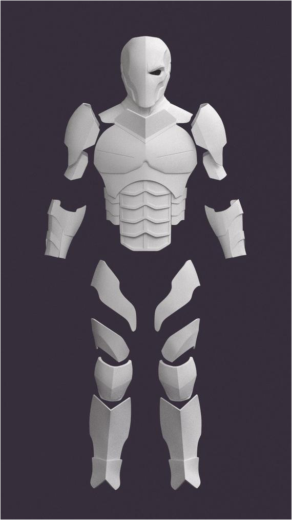 Deathstroke Armor Template Pepakura Mask Related Keywords Pepakura Mask Long Tail