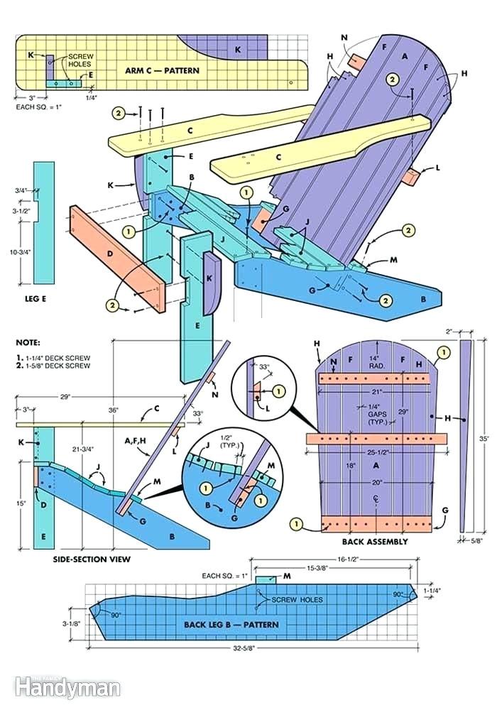 adirondack chair templates