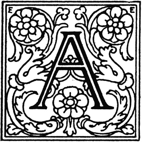 decorative alphabet letter