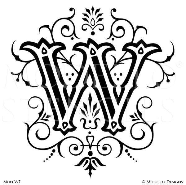 Decorative Lettering Templates Monogram Stencils Page 2 Modello Designs