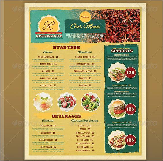 17 useful vintage restaurant menu templates psd indesign