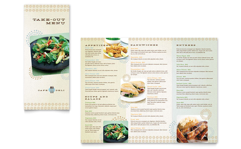 cafe deli take out brochure templates fb0060801d