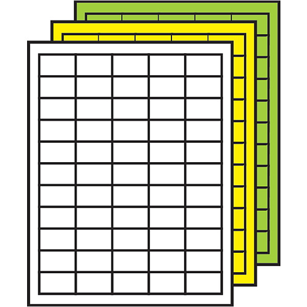Demco Label Template Demco Colored Multipurpose Processing Labels 29 32 Quot X 1 1