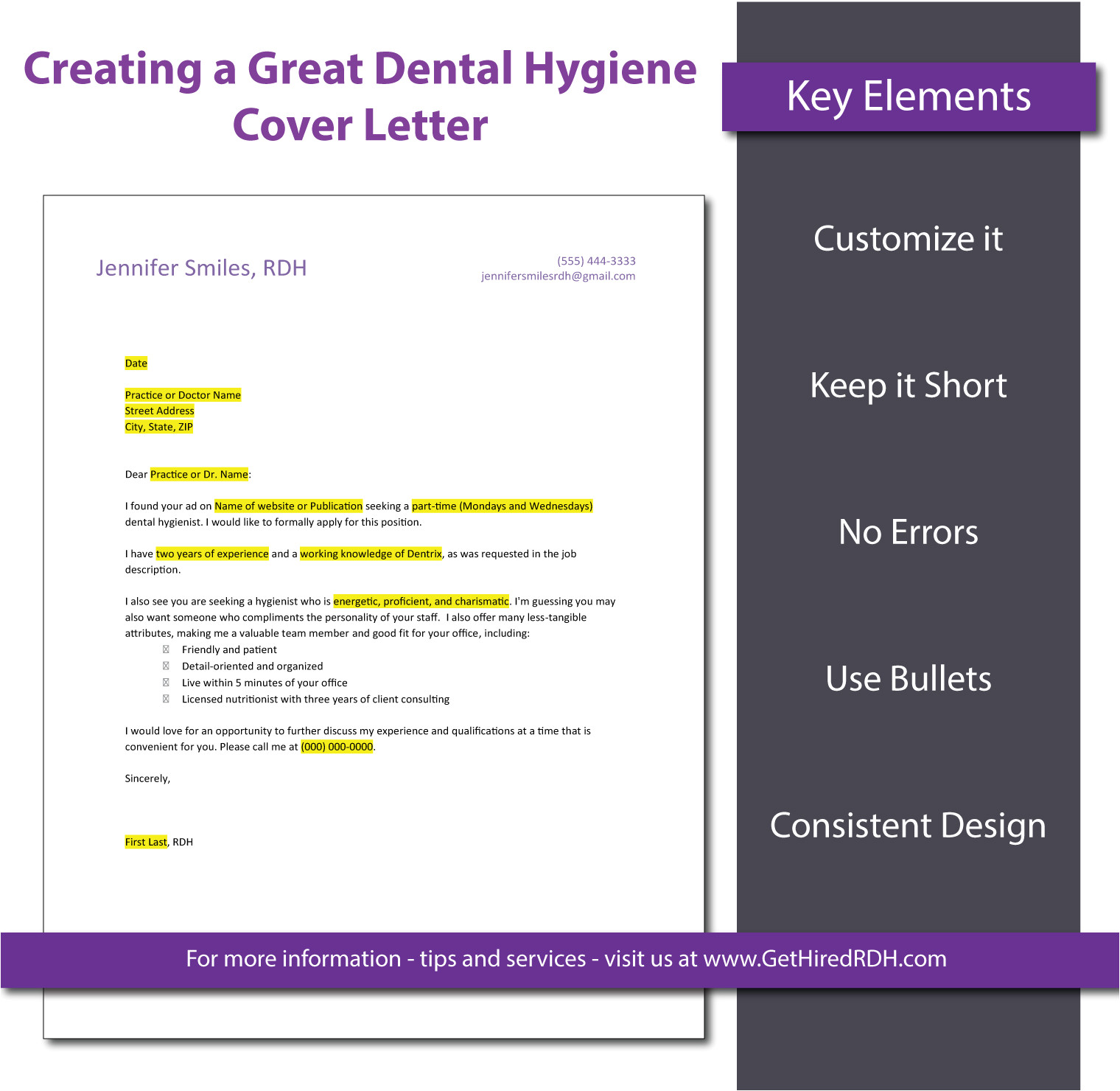 5 tips for creating a dental hygiene cover letter that gets you noticed