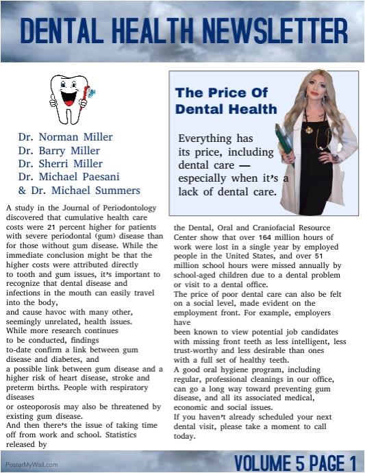 dental heakth newsletter poster template