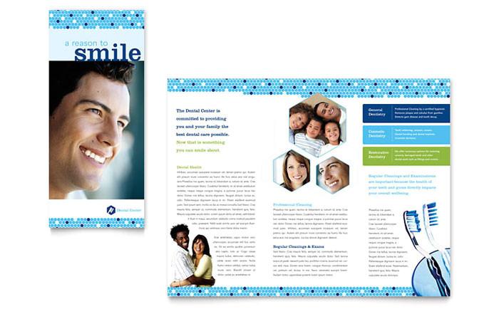 dentistry dental office brochure template design md0160101