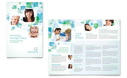 dentistry dental office newsletter template design md0160301