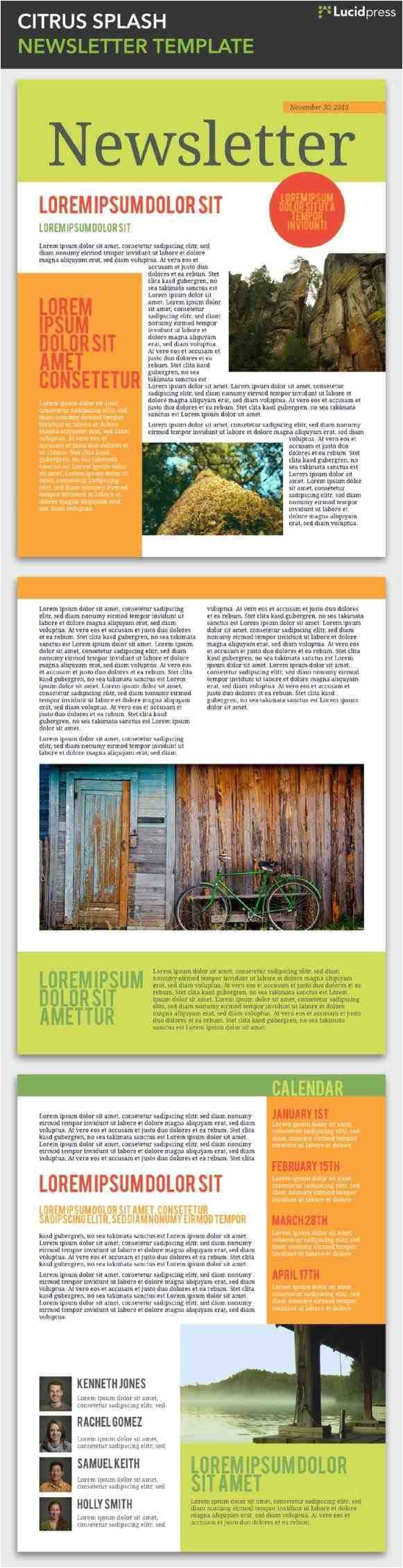 free magazine newsletter templates