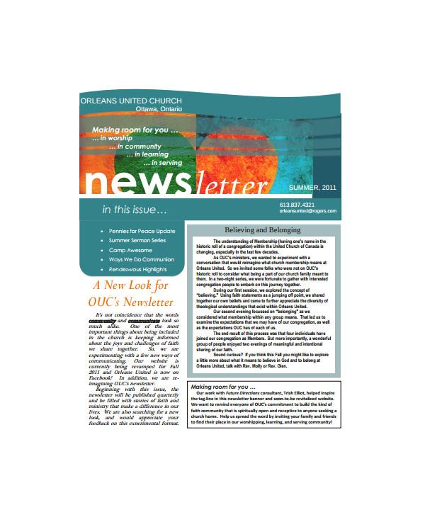 Department Newsletter Templates 8 Sample Office Newsletters Sample Templates