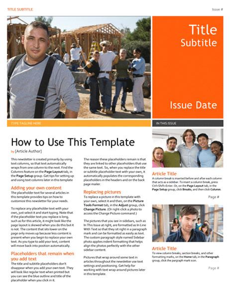 Department Newsletter Templates Newsletter