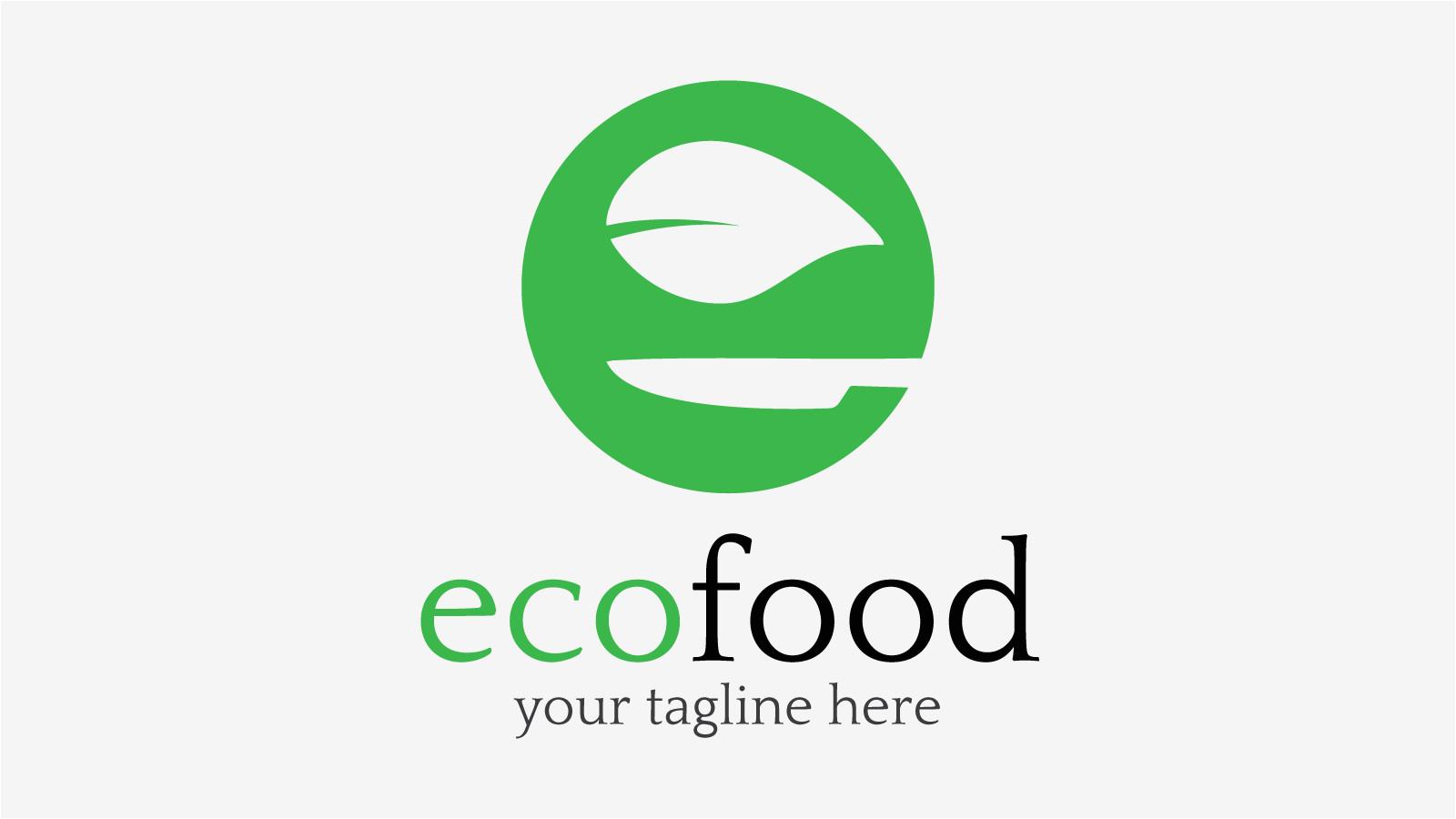 ecofood free logo design