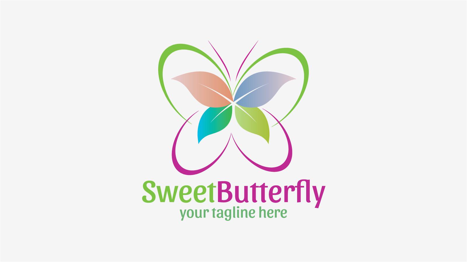 sweetbutterfly free logo design