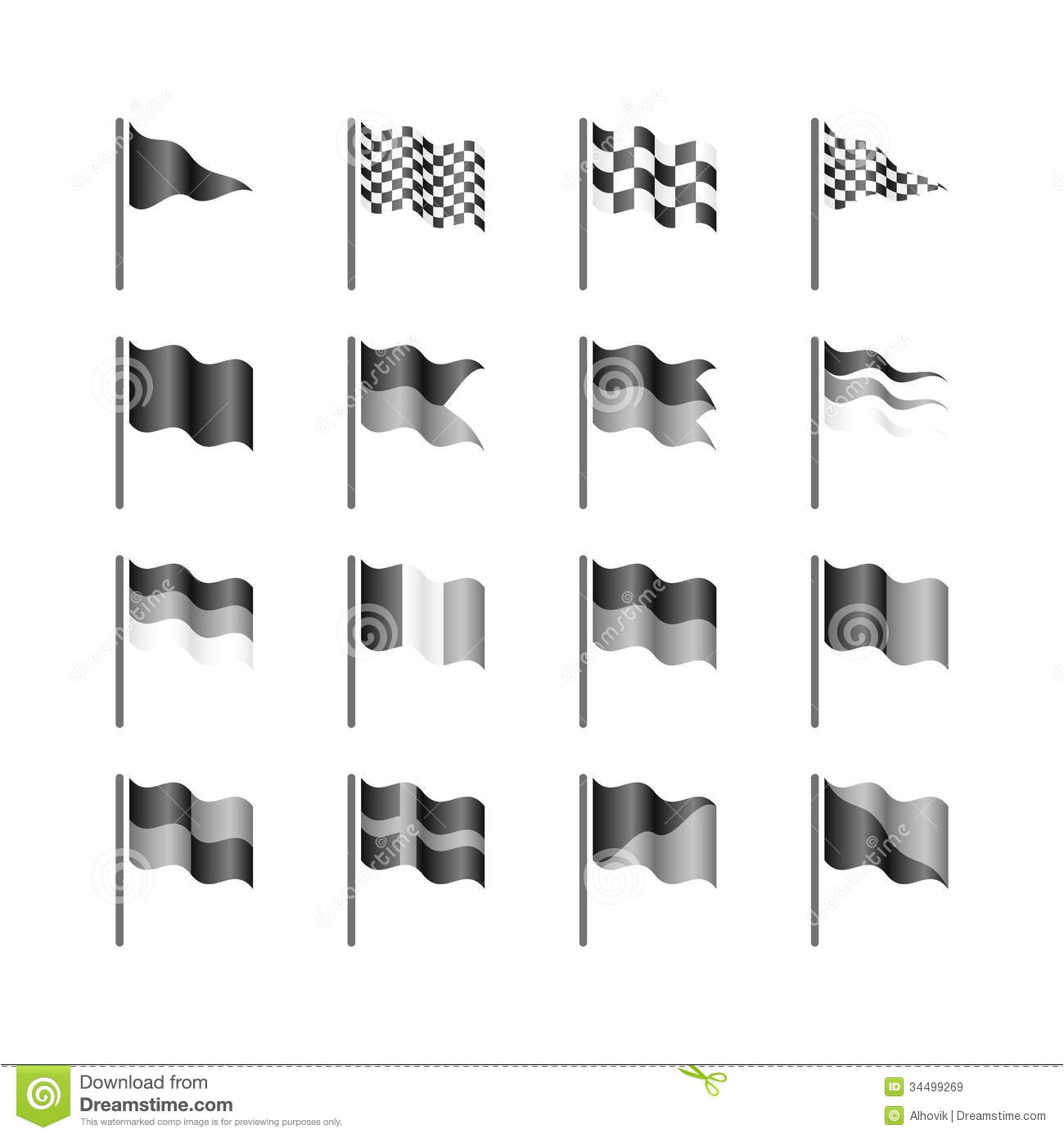 royalty free stock images flags template illustration easy to create your own flag image34499269