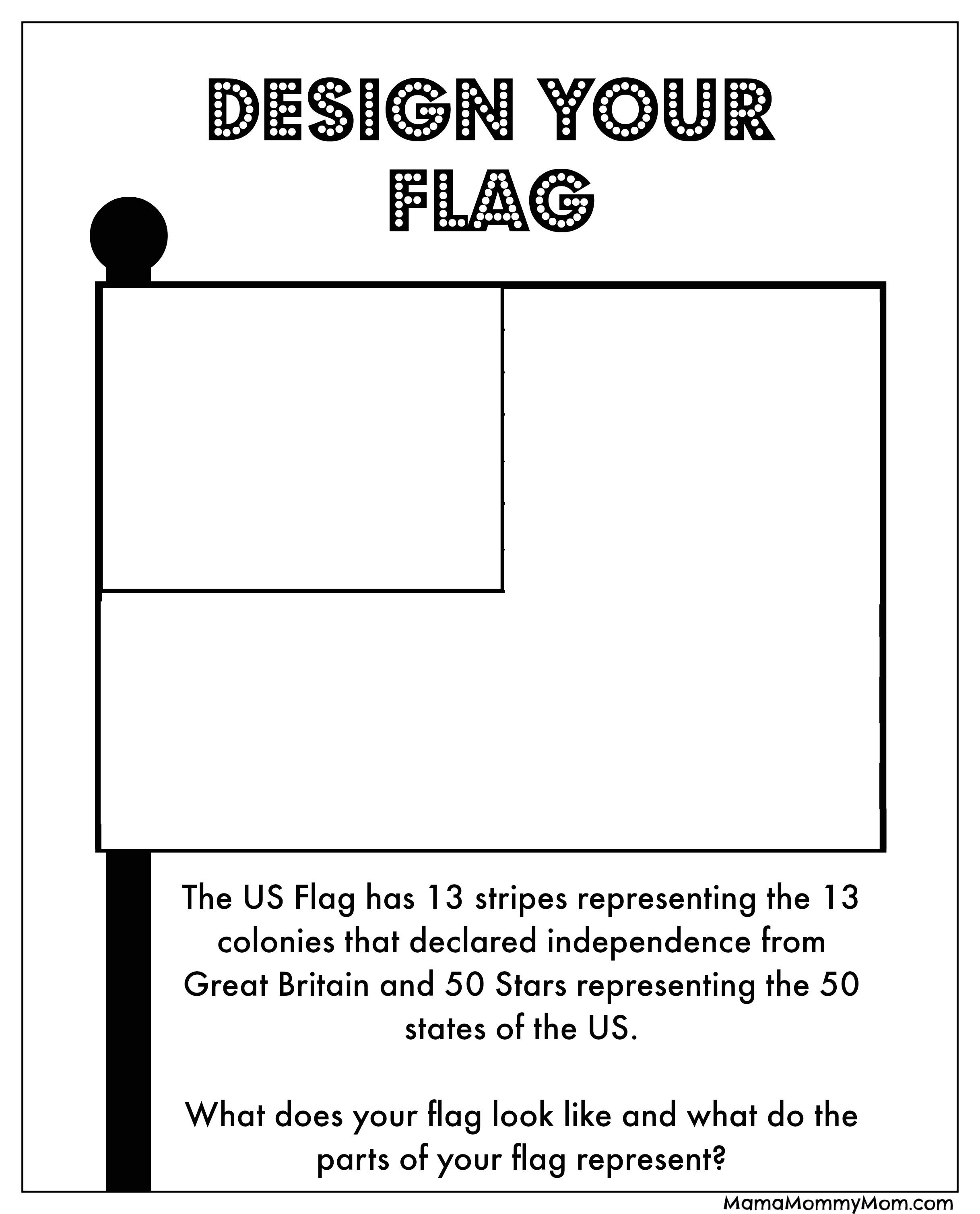 free 4th july printables design flag
