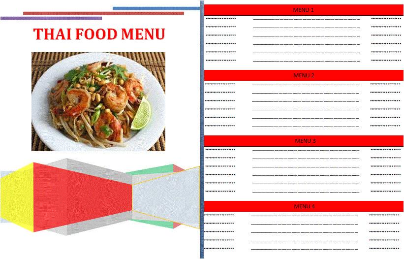8 create a menu free