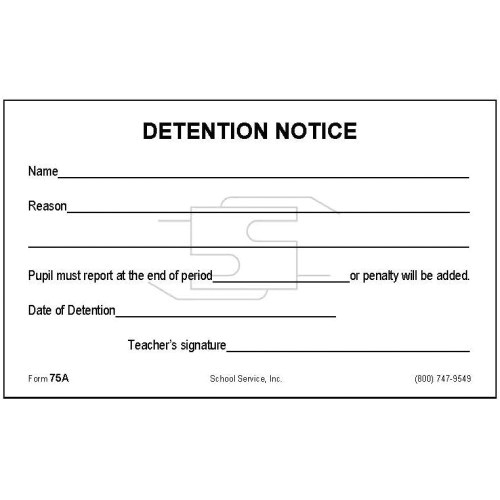 75a detention notice