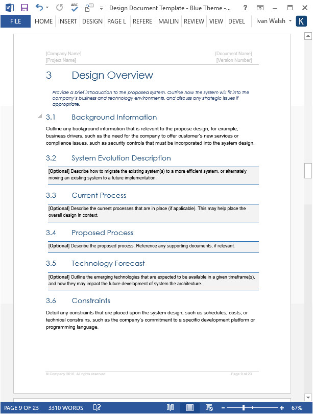 design document template