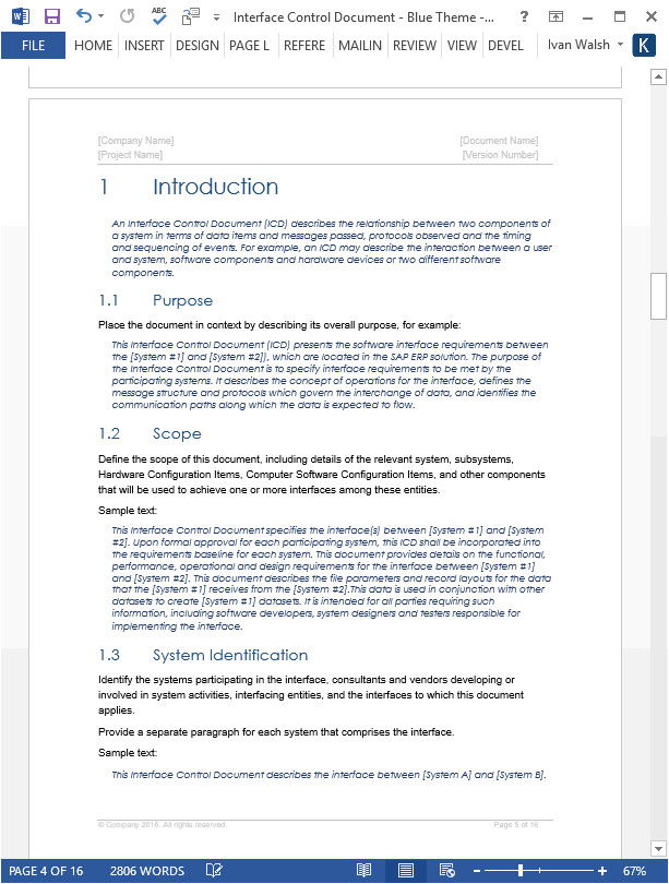 interface control document template