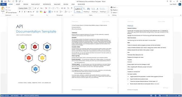 rest web api documentation template ms word