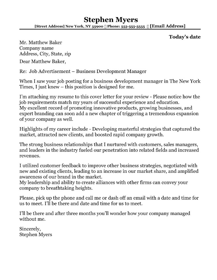marketing sales cover letter samples