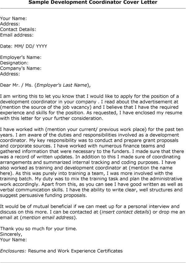 sample business development manager application letter