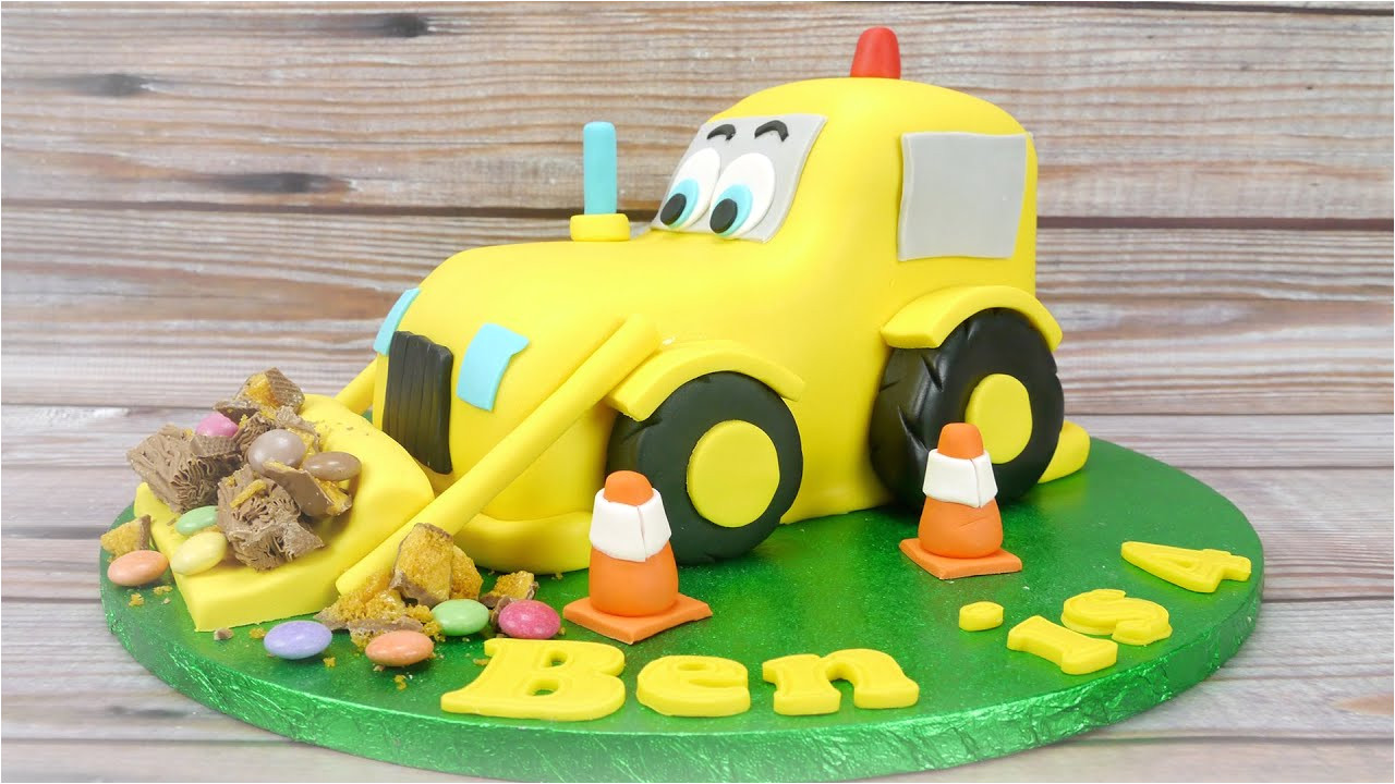 Digger Cake Template How to Make A Digger Cake Youtube