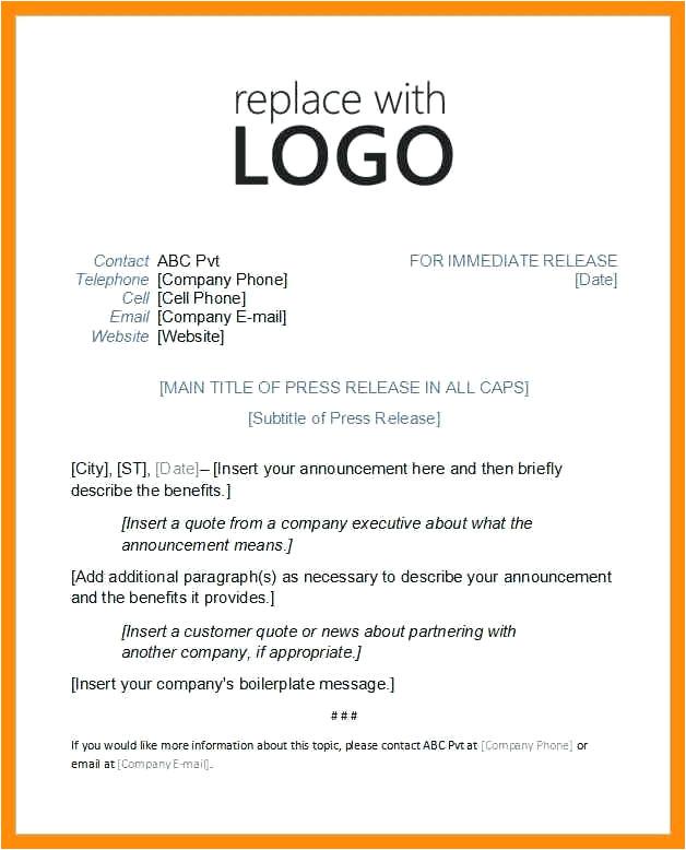 digital press release template
