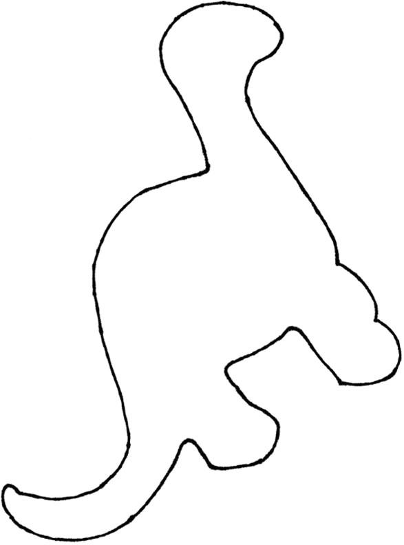 dinosaur footprint stencil