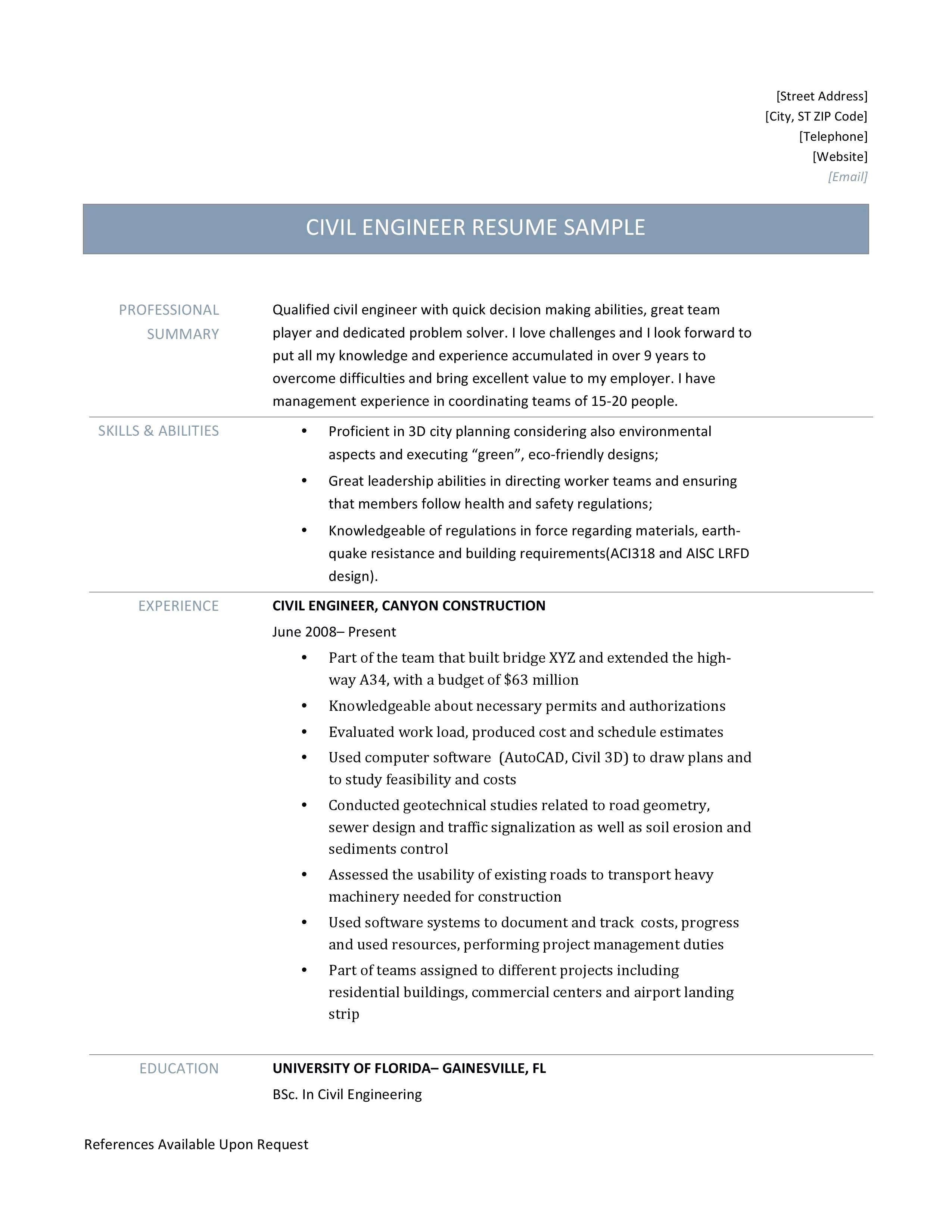 Diploma In Civil Engineering Resume Sample Sample Of Civil Engineer Resume Luxury Diploma In Civil