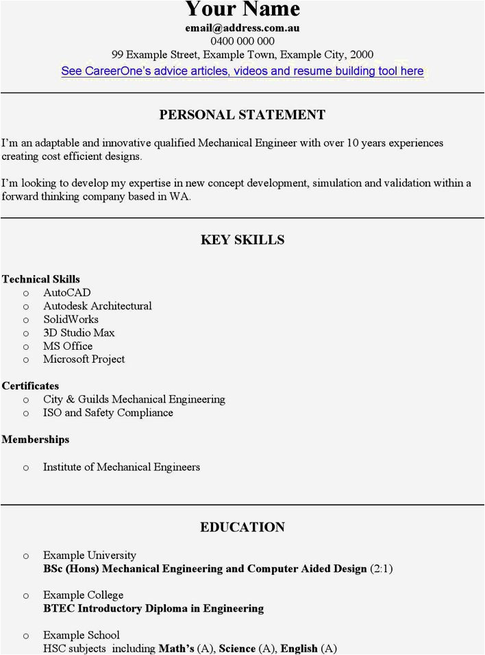 diploma in mechanical engineering resume format 2 pages