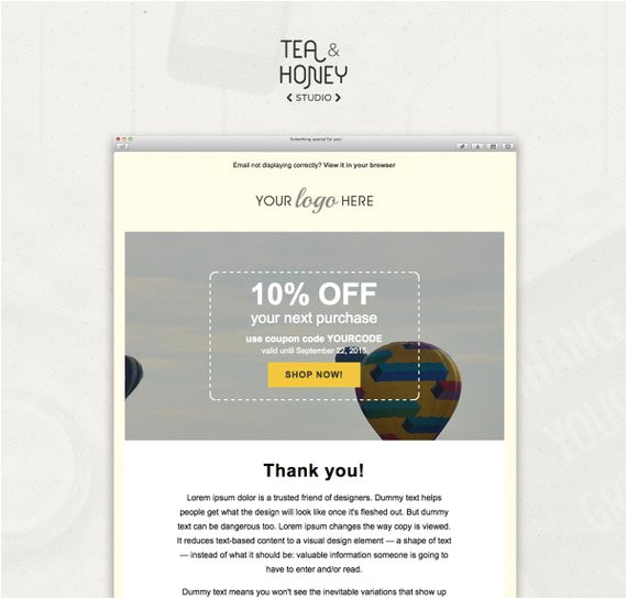 email newsletter template mailchimp
