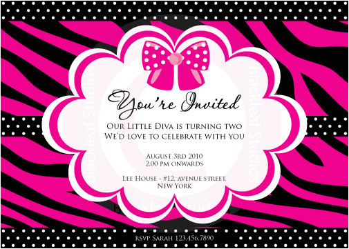 animal print invitations template