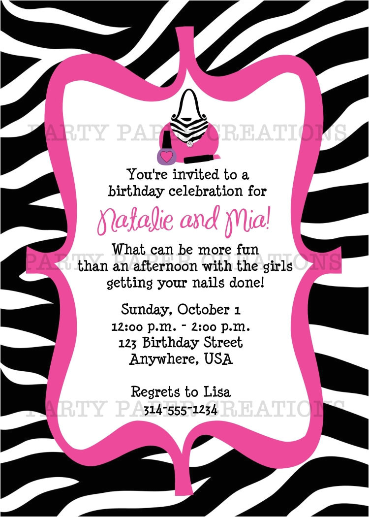 diva birthday invitation glamour girl