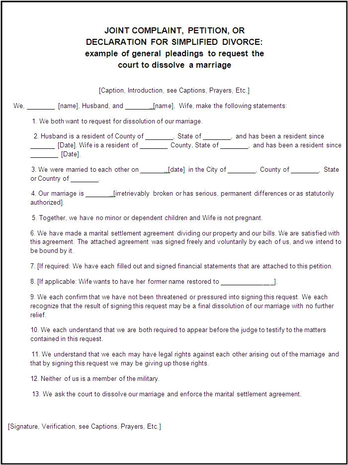 legal divorce papers