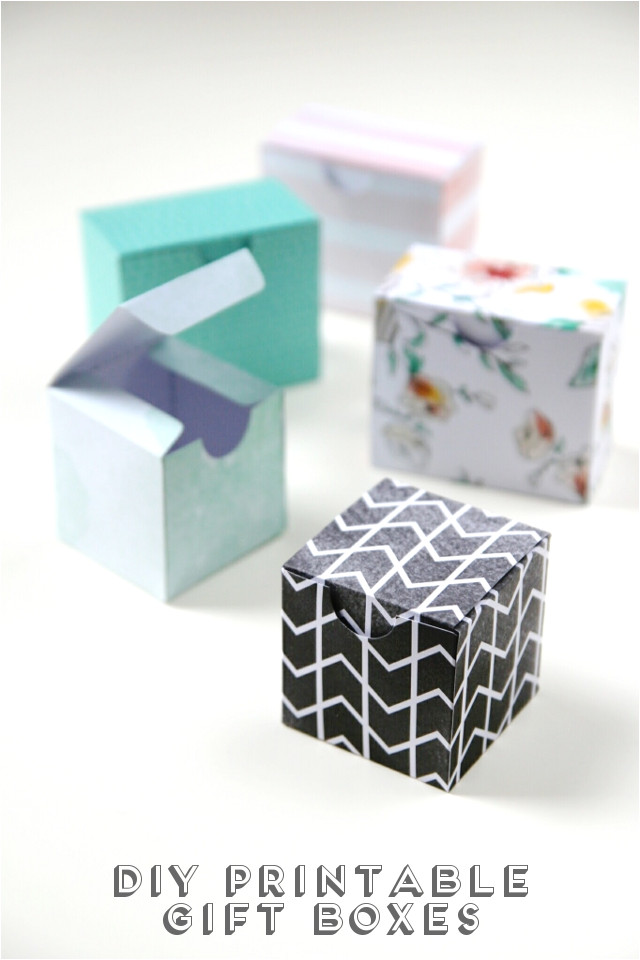 Diy Favor Boxes Templates Printable Diy Gift Boxes Gathering Beauty
