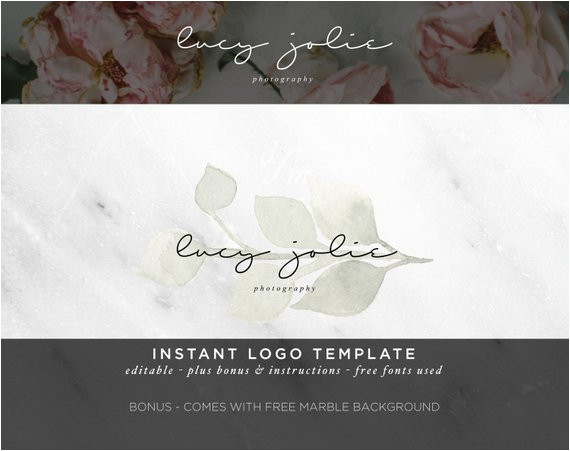 logo design watercolor logo diy logo