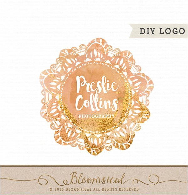 watercolor doilies laces logo template