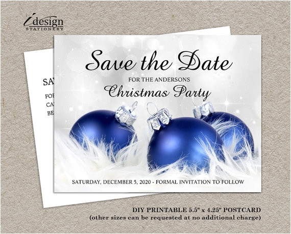 save the date christmas party template free 2