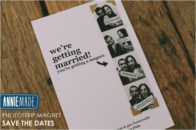 Diy Save the Date Magnets Template Diy Photostrip Magnet Save the Dates Free Templates