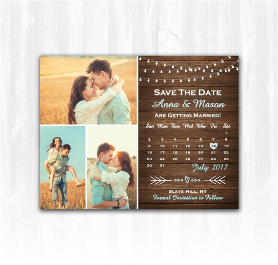 Diy Save the Date Magnets Template Rustic Save the Date Magnet or Card Diy Printable Digital File