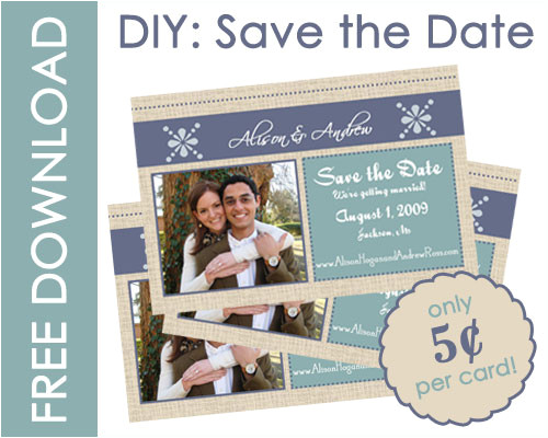 save the date card stock diy