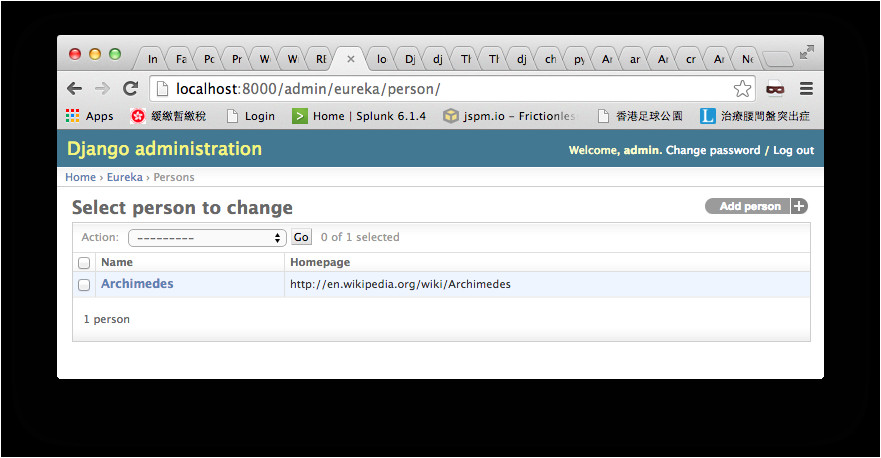 django show model objects in django admin and apply format filter