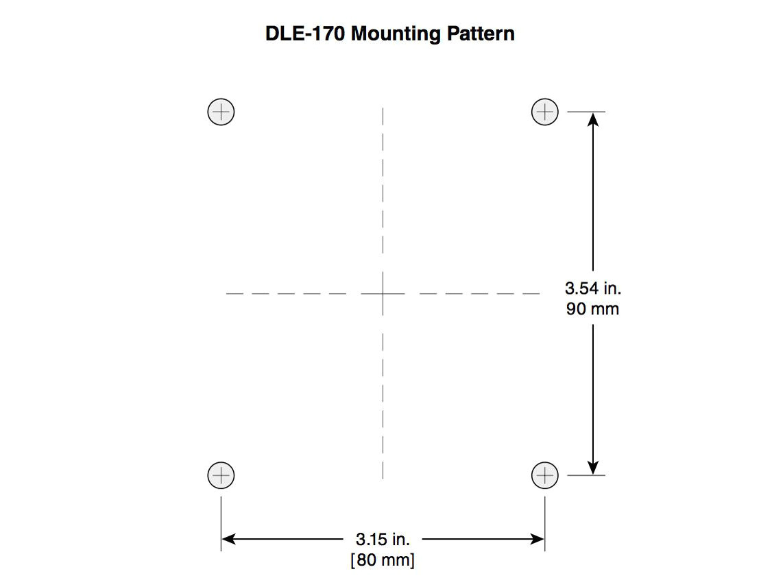 dle 30 mounting template