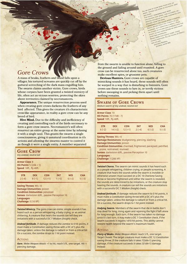 dnd 5e monster manual template