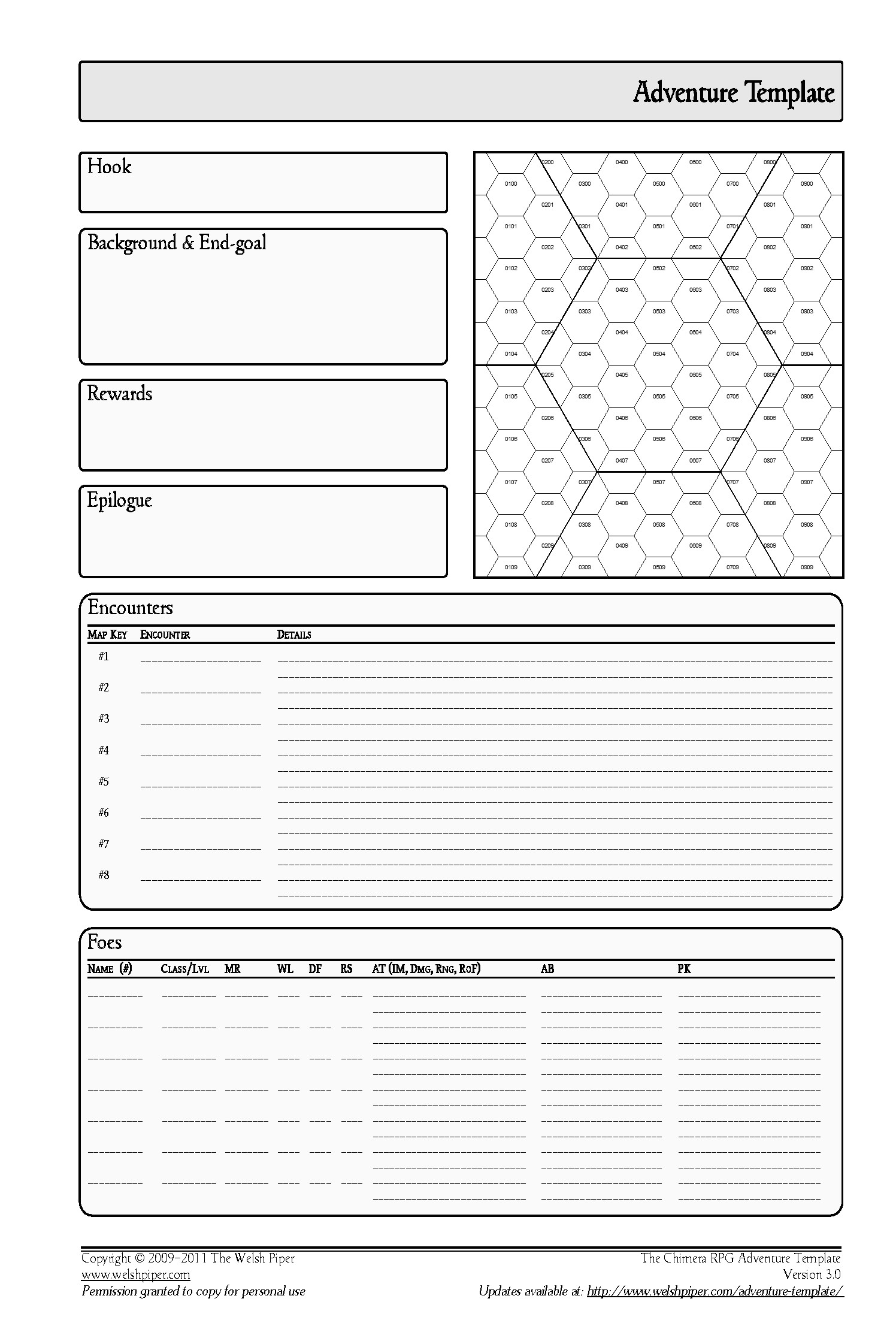 hex templates