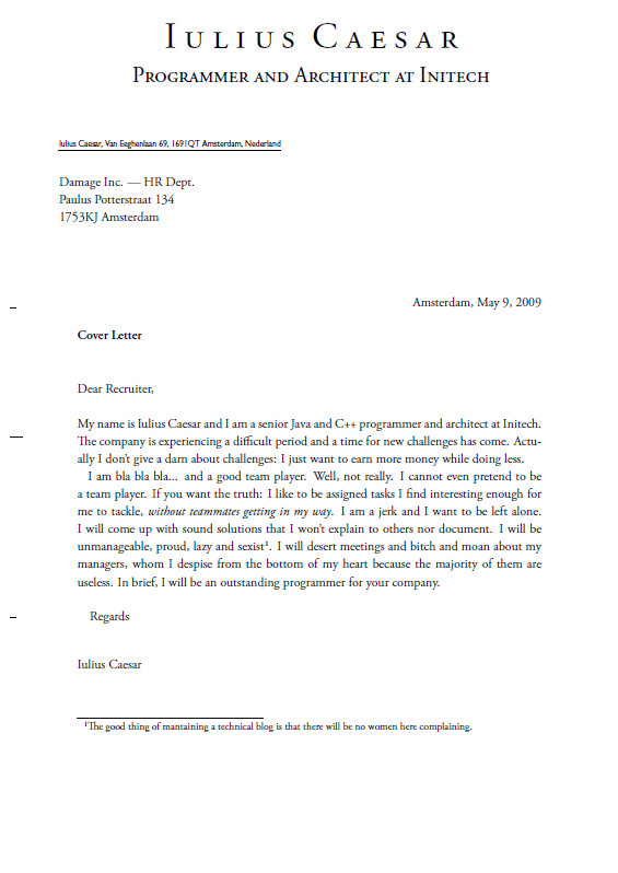 do recruiters read cover letters