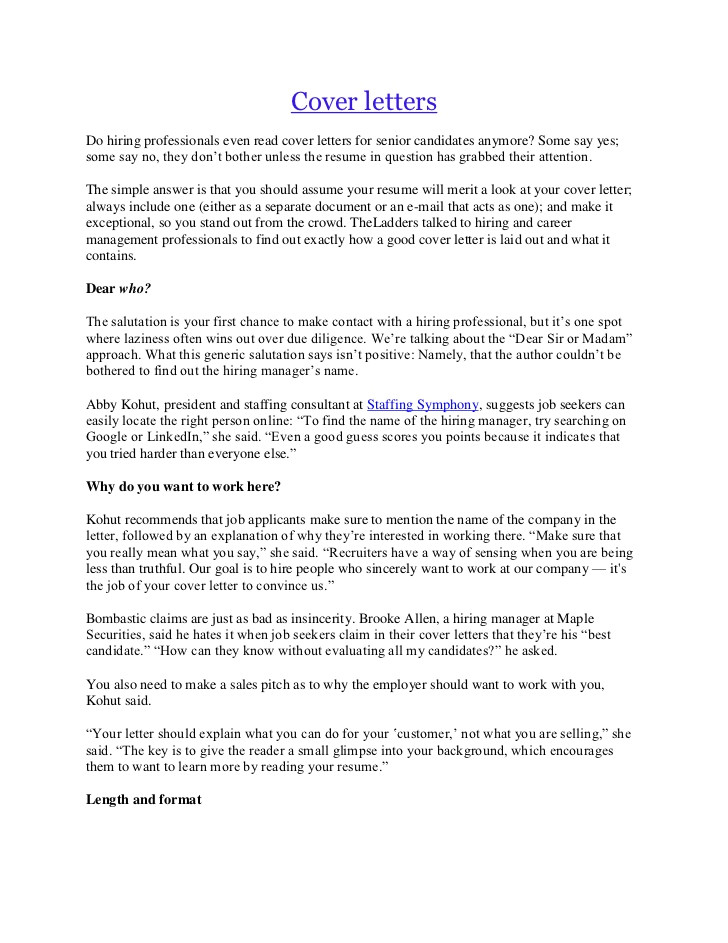 do recruiters read cover letters v10 ting the job cover letters
