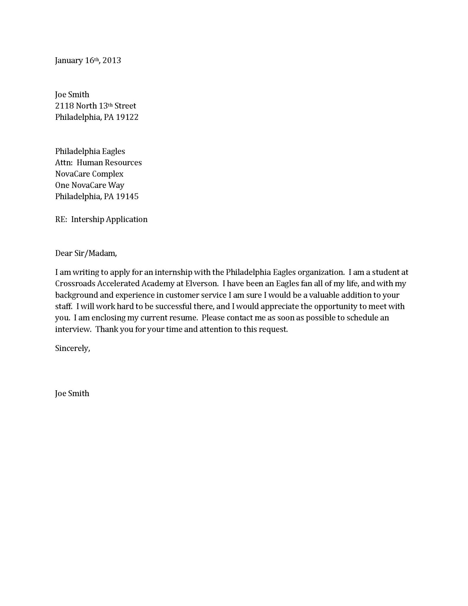 cover letter for resume template
